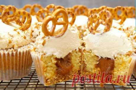 Маффины рецепты с карамелью  Джемма представляет маффины рецепты с карамелью - тесто с карамелью, крем с карамелью, начинка карамельная