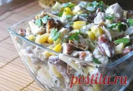 Cалат с копченой грудкой и фасолью: лучшая тройка рецептов