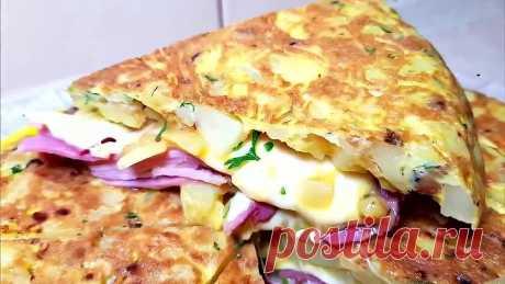 Необыкновенно вкусное блюдо из картошки, сыра и ветчины! Объедение просто!