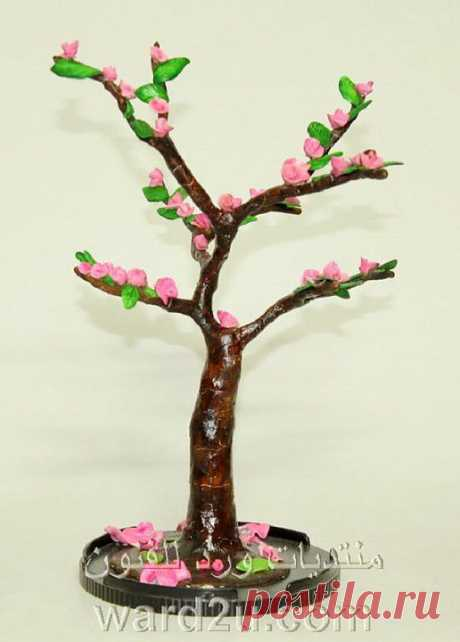 (+1) тема - Вечноцветущее дерево из холодного фарфора   СВОИМИ РУКАМИ