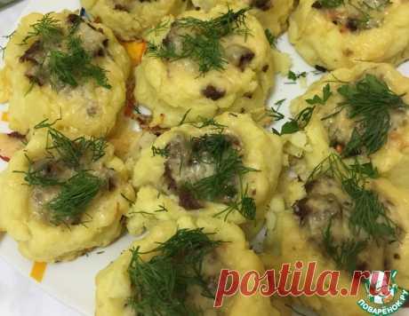 Картофельные гнезда с фаршем – кулинарный рецепт