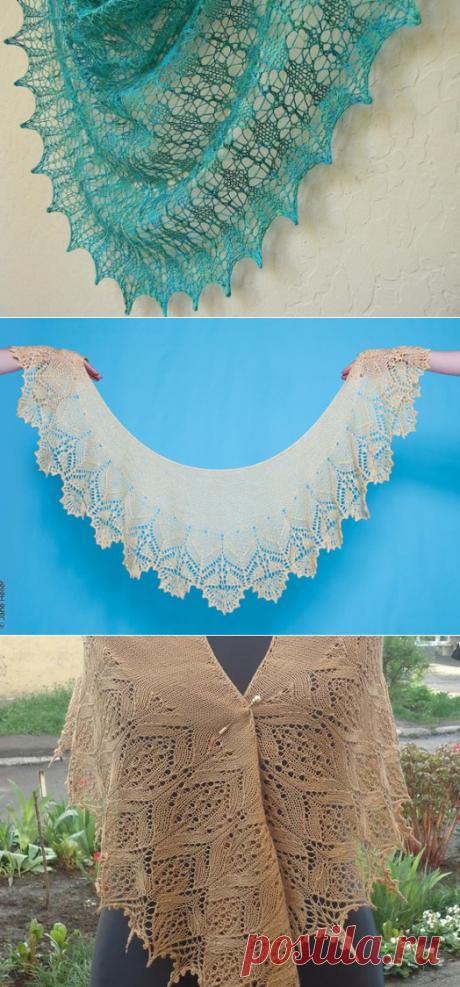 Красивое вязание | Шали