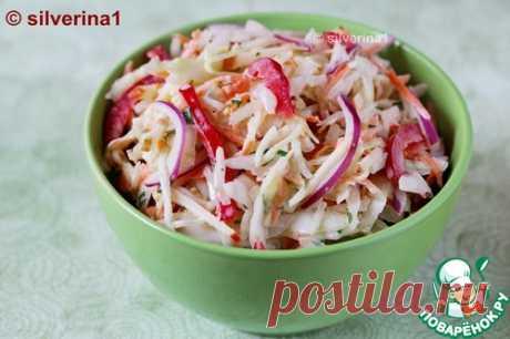 """Салат """"Коулсло"""" с яблоком и перцем – кулинарный рецепт"""