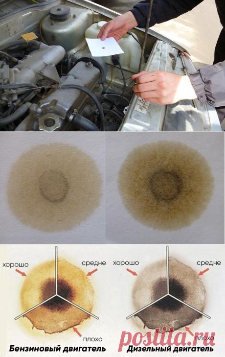Как проверить качество масла в двигателе с помощью листа бумаги. Капельный тест