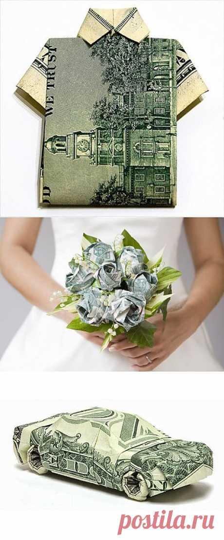 Оригами из денег: фото, схемы, видео