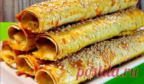 Делаю вкуснейшие куриные трубочки из лаваша: рецепт приготовления