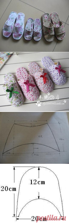 Shity slippers. Pattern
