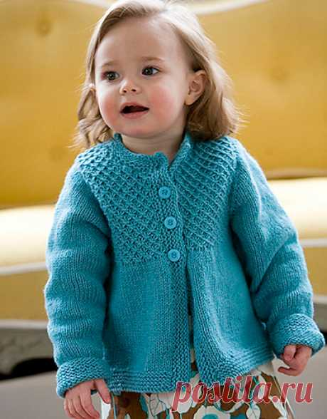Вязание спицами для девочки Кардиган