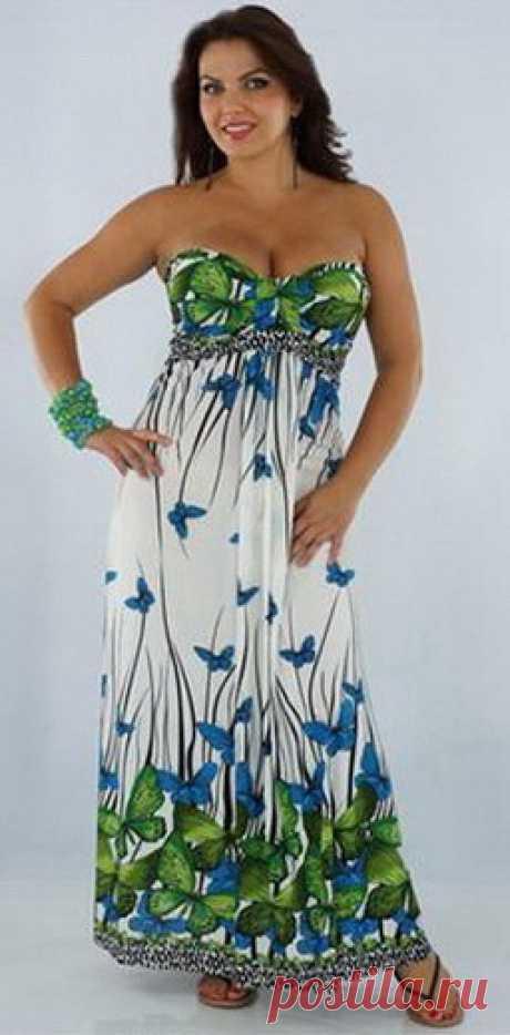 Красивые модели платьев для дам с пышными формами - 3