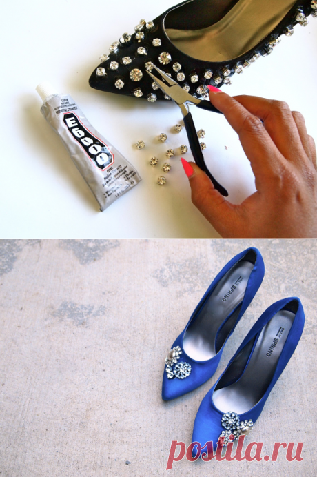 """The scattering poured a paste ‒ the operation \""""rescue\"""" for the shoes which got out of fashion - Lessons and technology of beadwork will fascinate you at once – to create beauty, stock up with patience - Forum-Grad"""
