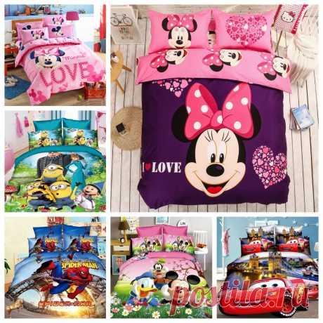 Детские комплекты постельного белья с персонажами Диснеевских мультфильмов