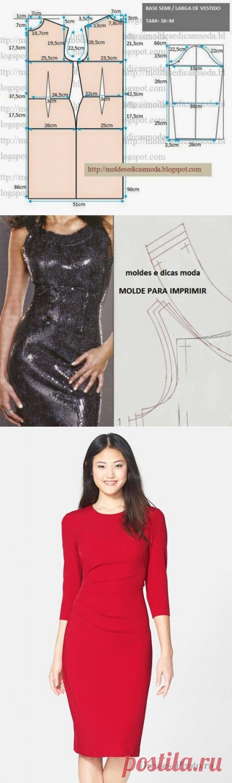 Платье-футляр: построение выкройки и готовые варианты | Дама