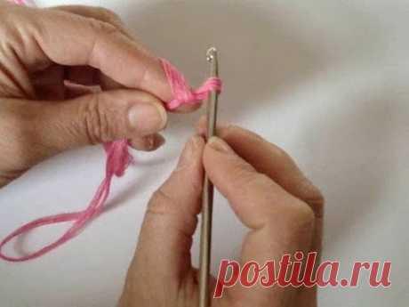 Вязание крючком для начинающих - Урок 1. Первая петля