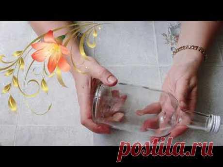 Как сделать декор бутылки  ромашками, Рисуем на бутылке.DIY/рукоделие