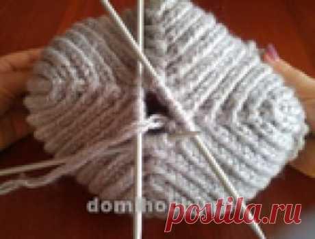 Как правильно вязать шапку спицами резинкой 1х1