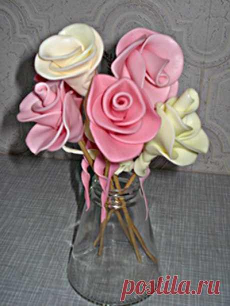 Розы из конфет МАМБА