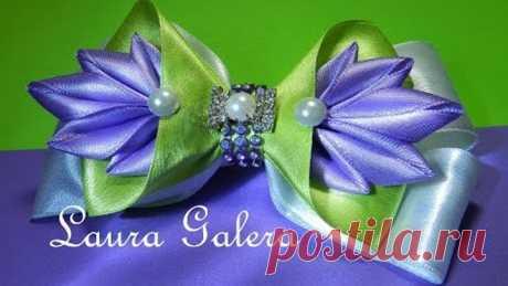 Easy bow for a girl !!! Moño fàcil para niña !!!! Laço fácil para menina!!!