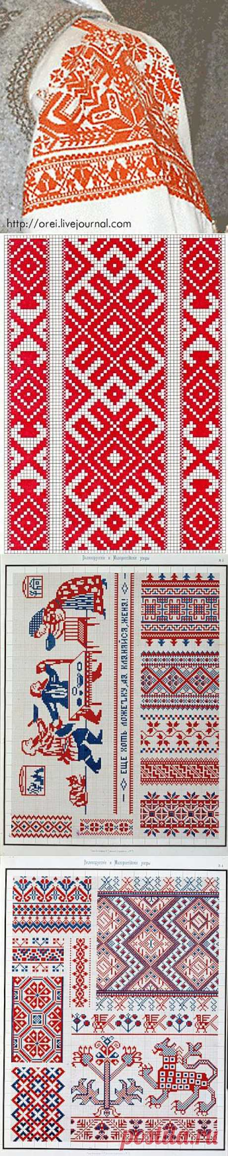 Embroidery as a charm in Russia.