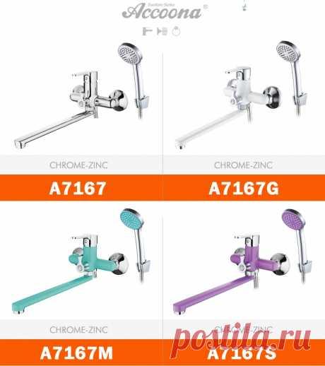 Набор смесителей Accoona для ванной комнаты, смеситель для душа, настенный смеситель для ванны с насадкой для душа A7167|Смесители для ванны| | АлиЭкспресс
