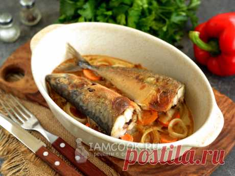 Скумбрия в сметане и горчице в духовке — рецепт с фото Скумбрия идеально подходит для запекания в духовке под сметанно-горчичным соусом, рыба получается сочной, ароматной и нежной.