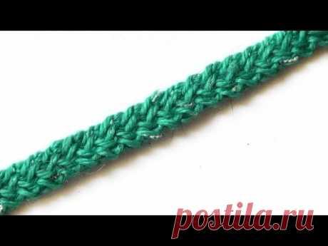 Плоский шнур. Видео МК - Вязание - Страна Мам