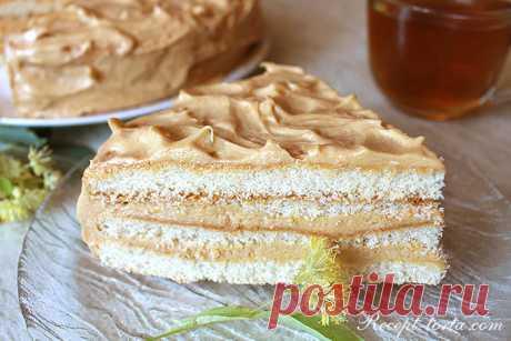 Рецепт с фото торта из готовых коржей Сливочные волны