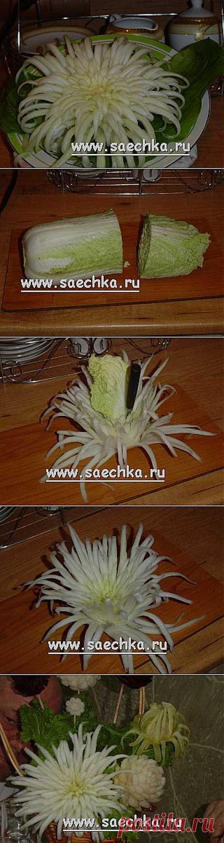 Хризантема из пекинской капусты | рецепты на Saechka.Ru