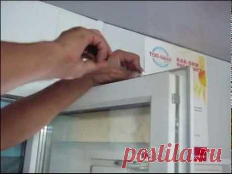 Установка приточного клапана на пластиковое окно
