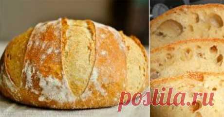 Пышный и душистый домашний хлеб без замеса! С хрустящей корочкой!
