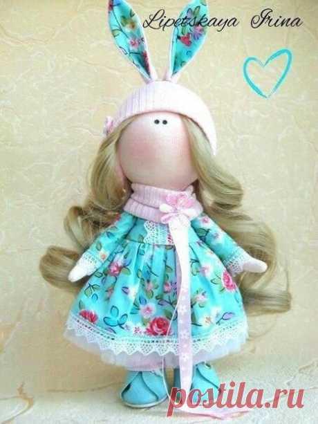 Текстильная куколка Автор: Ирина Липецкая