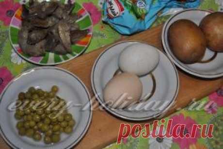 Салат с картошкой, грибами и яйцом, рецепт с фото
