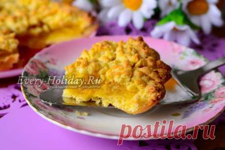 Пирог с яблочным вареньем, рецепт с фото пошагово в духовке