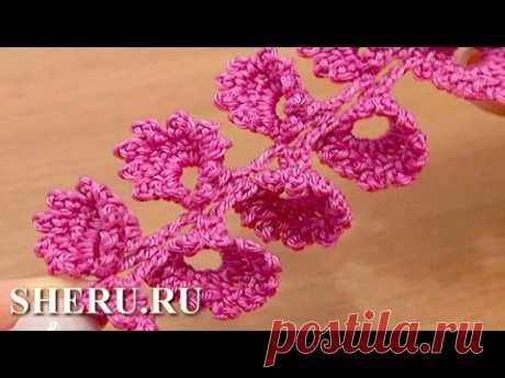 How To Crochet 3D Cord  Урок 40 Вязание шнура крючком