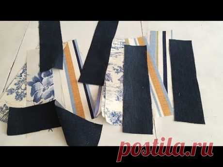 Unusual from simple stripes. Bag - hit 2021, do it yourself. Patchwork bag design.