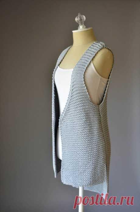 Вязание жилетов и безрукавок спицами 11.Простые жилеты-подборка из 5 Моделей
