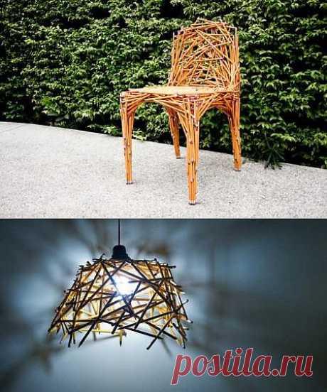 Карандаши как материал для создания мебели | Экологичные штучки