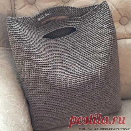 Описание вязания популярной сумочки.