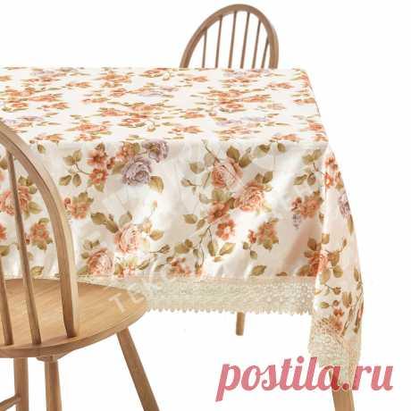 Скатерть матерчатая ажурная Расцветки в ассортименте