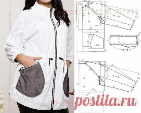 Выкройка куртки ветровки Модная одежда и дизайн интерьера своими руками
