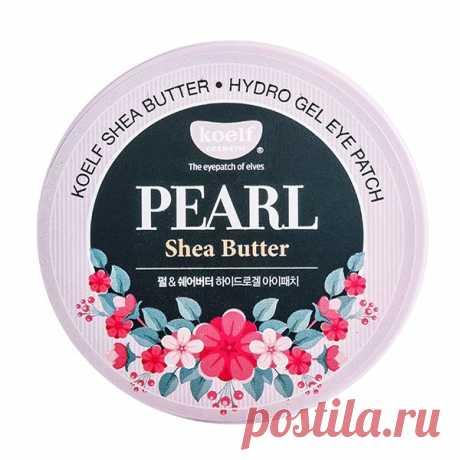 Koelf Hydro Gel Pearl & Shea Butter Eye Patch купить по цене 1410 руб. в Москве - отзывы, состав, способ применения