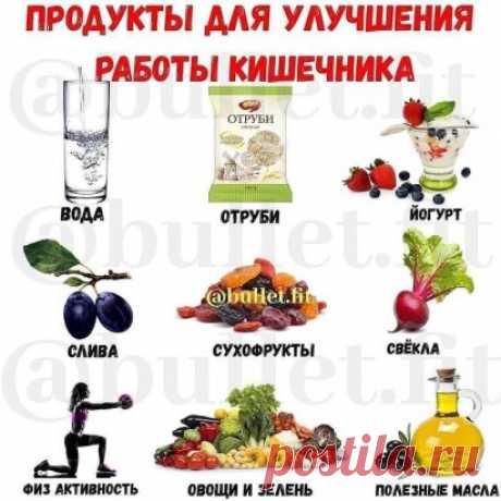 Продукты для улучшения работы кишечника