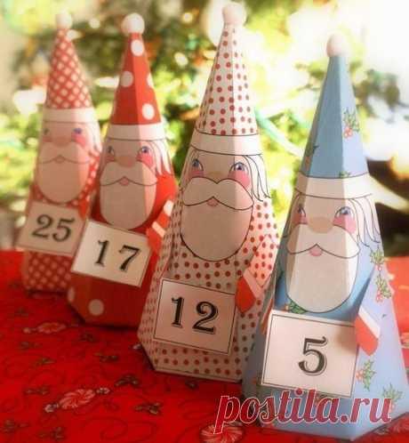 Санты для украшения рождественского стола