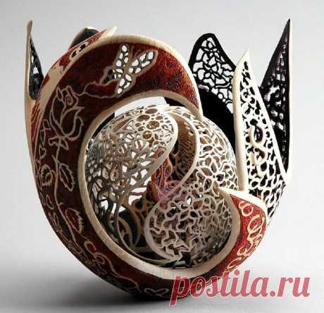 Деревянные кружева Joey Richardson. Её работы можно увидеть на выставках и в музеях Великобритании, в знаменитых галереях.
