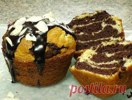 Пышные кексы мини-зебрики - Лучшие рецепты для Вас!