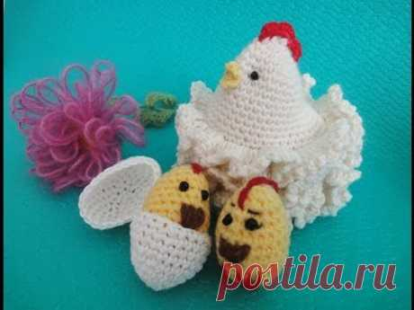Пасхальная курочка Часть 1 Easter chicken Part 1 Crochet - YouTube