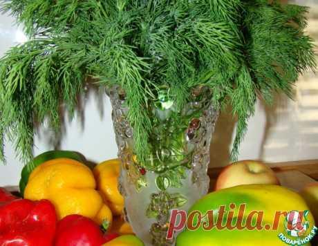 Замороженный укроп и петрушка на зиму – кулинарный рецепт