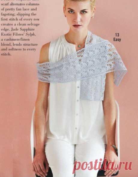 Шарф Fan Lace, Vogue ss 2014