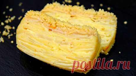 Тесто, которое при выпечке превращается в крем! Пирог «Невидимка» с яблоками и грушами