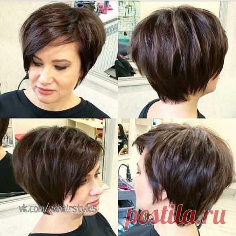 Стильная стрижка для коротких волос
