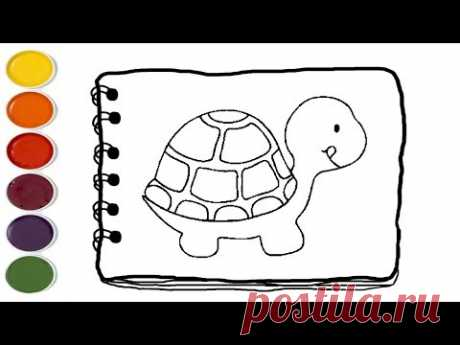 💎 How to Draw a Happy Baby TURTLE Coloring Pages | Coloring Pages For Kids | Kids drawing easy - YouTube